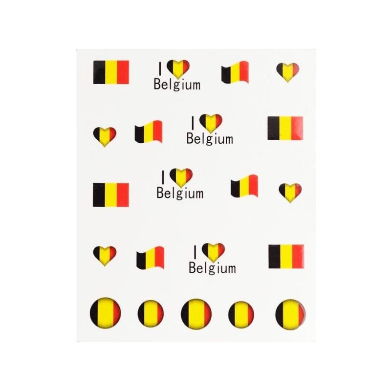 Stickers Flagge Belgien