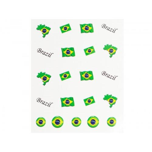 Stickers Flagge Brasilien