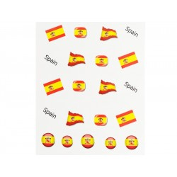 Stickers Flagge Spanien