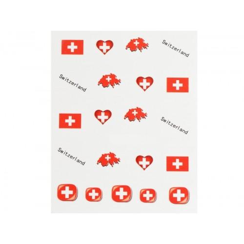Stickers Flagge Schweiz