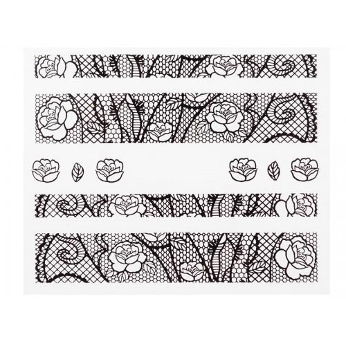Stickers Dentelle Noir HBJY005