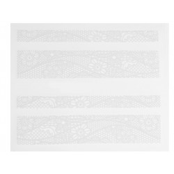 Stickers Dentelle Blanc HBJY006