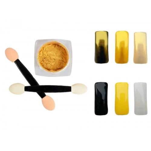 Spiegel Pulver Gold 001