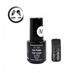 Vernis Semi-Permanent Top Coat Mat UV / LED 5ml