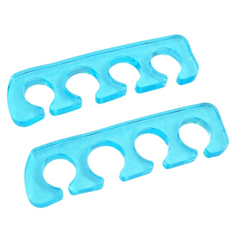 Séparateur d'orteils silicone bleu