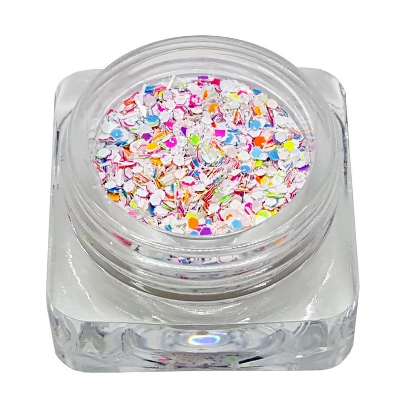 Flitters confetti blanc
