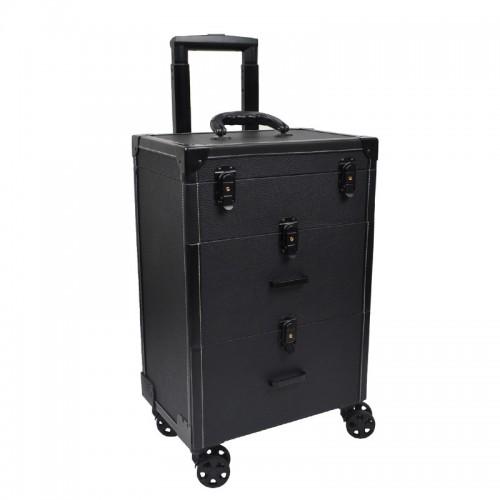 Beauty Case Luxe trolley Noir