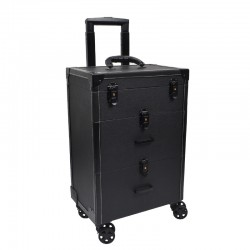 Beauty Case Luxus Trolley Schwarz