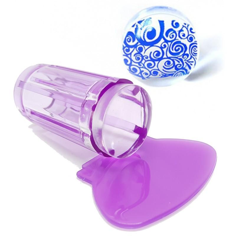 Tampon stamping violet