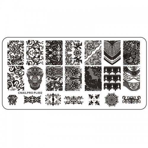 Schablone PL002 für Stamping
