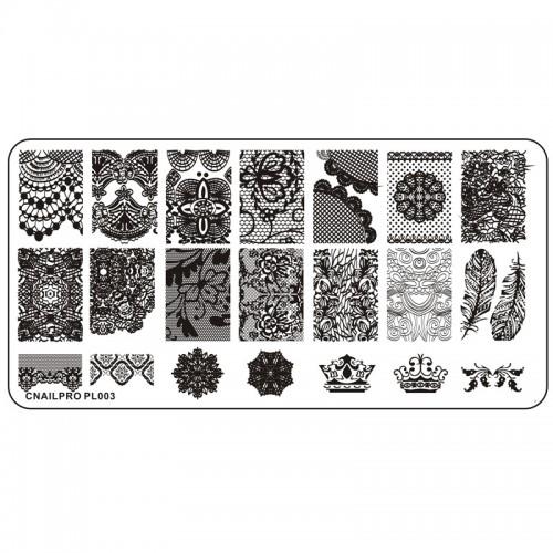Schablone PL003 für Stamping