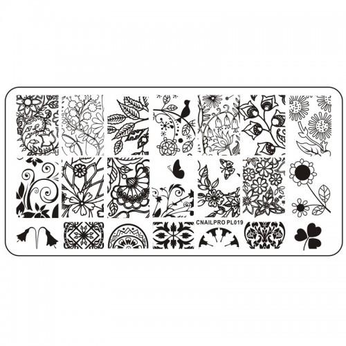 Schablone PL019 für Stamping