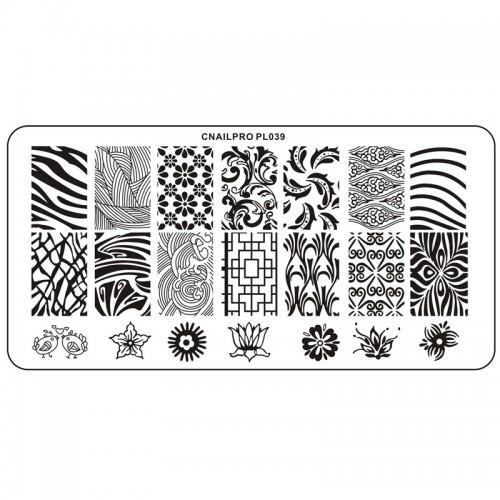 Schablone PL039 für Stamping