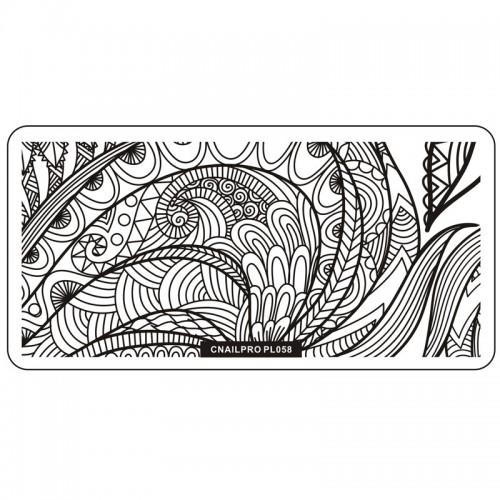 Schablone PL058 für Stamping