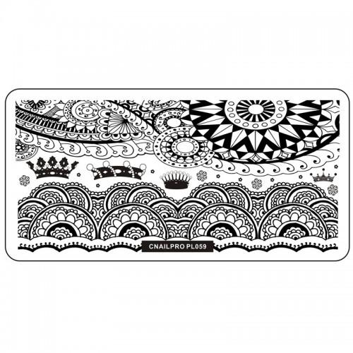Schablone PL059 für Stamping