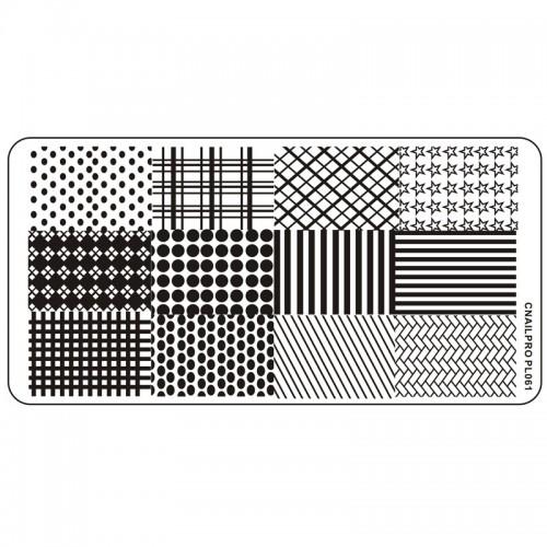 Schablone PL061 für Stamping