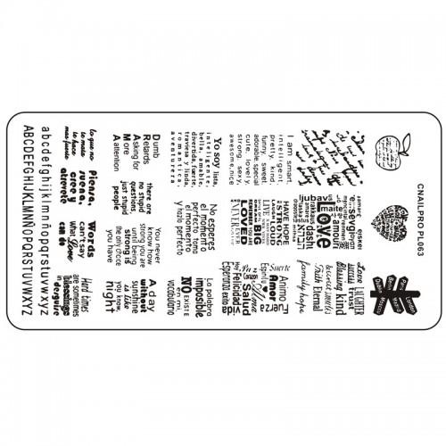 Schablone PL063 für Stamping