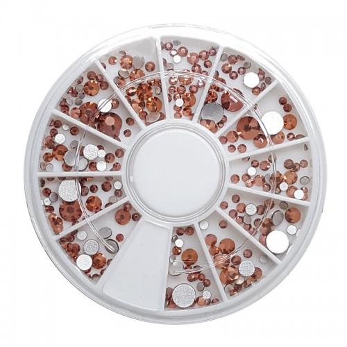 Diamants à facette or rose de différentes tailles