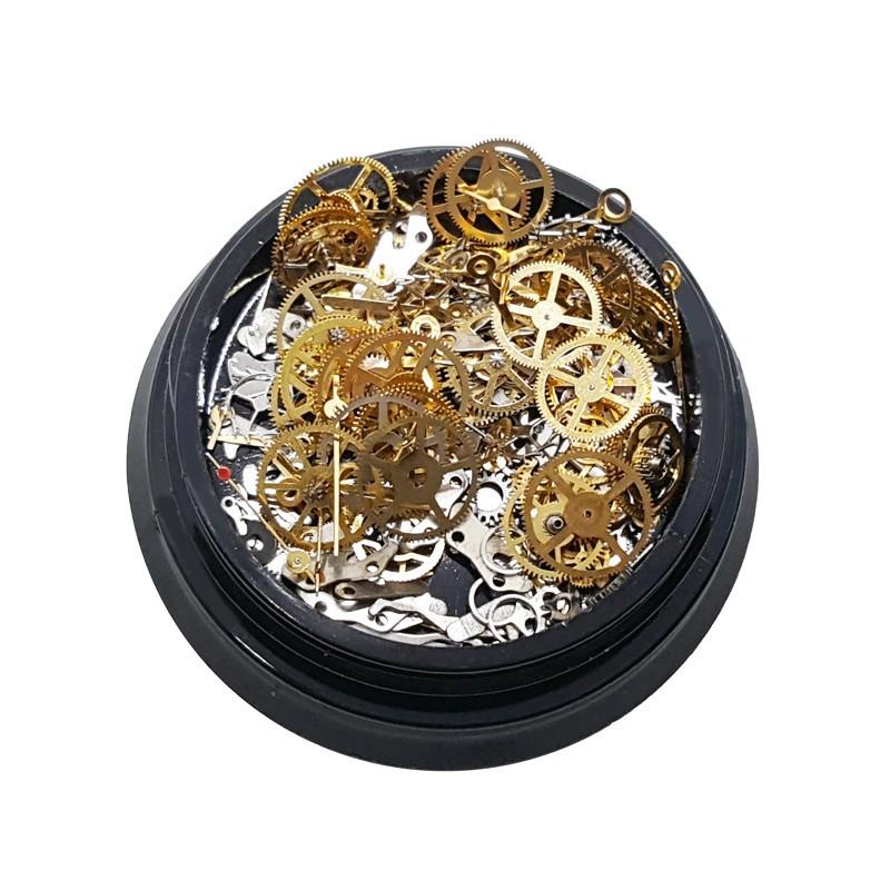 Déco métallique mécanisme doré et argenté