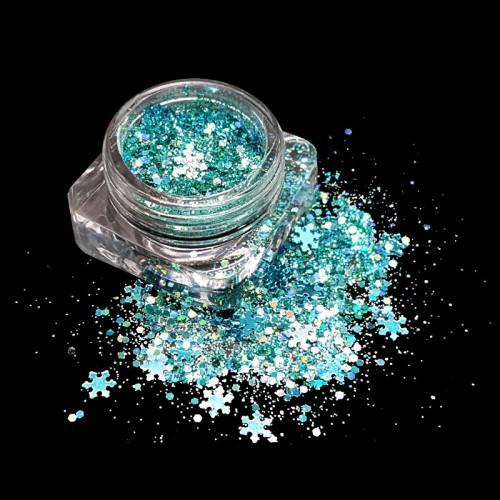 Paillettes Noël turquoise