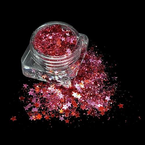 Paillettes étoile pink