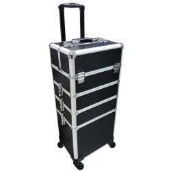 Beauty Case Trolley Schwarz