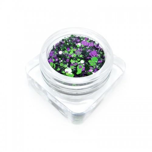 Paillettes vert-violet