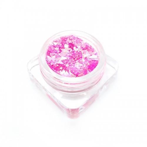 Paillettes pink fluo avec papillons