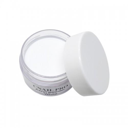Poudre acrylique blanche ultra fine. Idéal pour la réalisation d'une french manucure parfaite sur vos ongles. Effet naturel.
