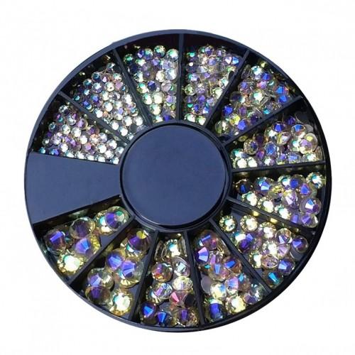 Diamants à facette abricot irisé de différentes tailles