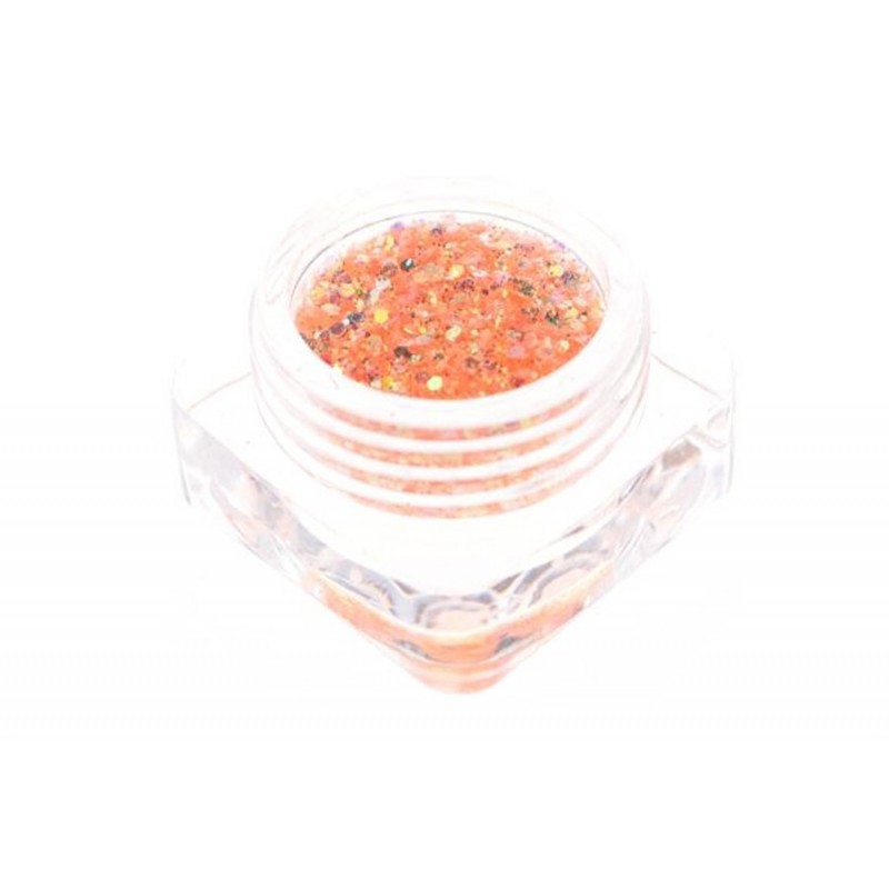 Paillettes orange clair